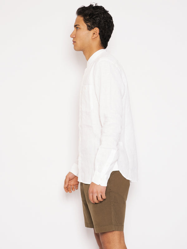 Korean Shirt in White Linen