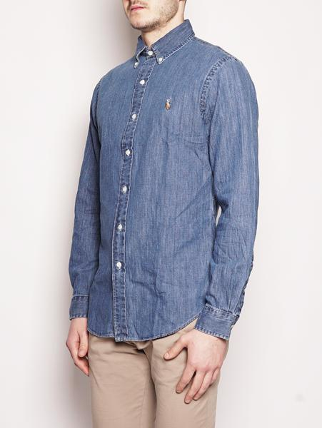 Camicia sportiva in denim Slim-Fit Blu-Camicie-RALPH LAUREN-TRYME Shop