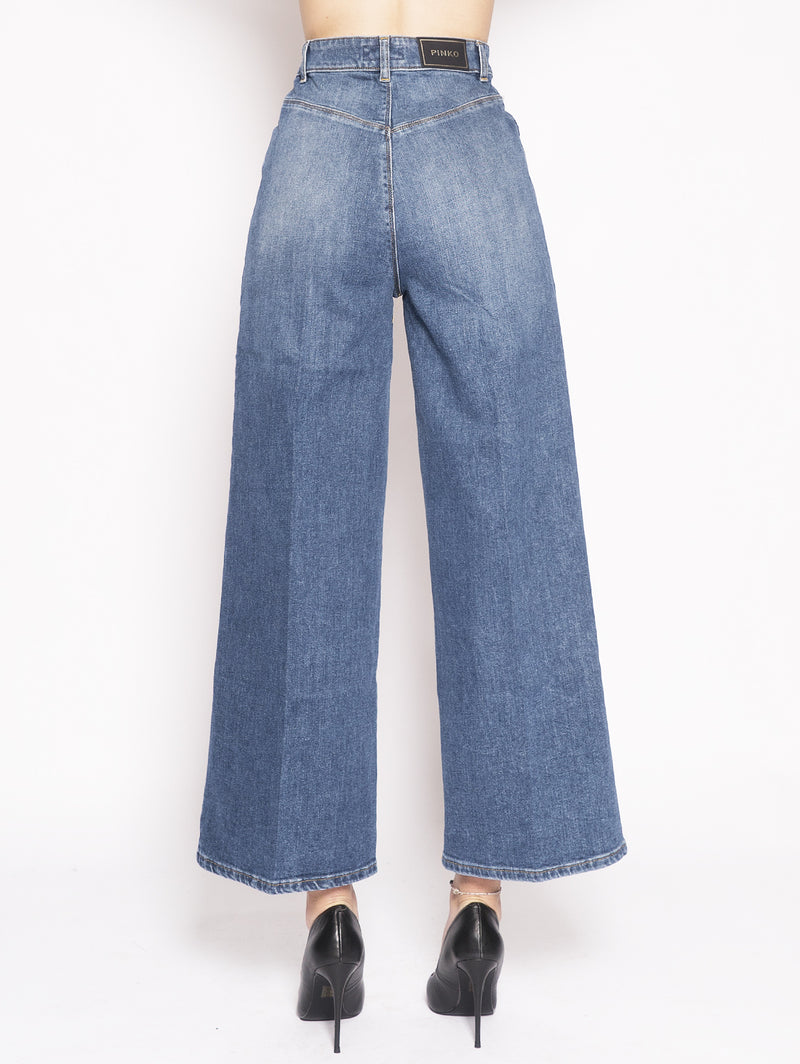 PARKER - Jeans a palazzo in comfort twill Blu