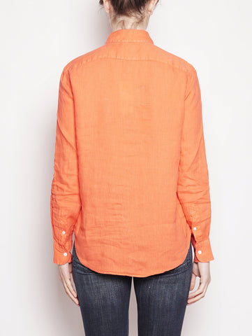 RALPH LAUREN Camicia in lino Relaxed-Fit Rosso Trymeshop.it