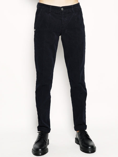 Alan - Pantalone chinos in velluto Blu 40WEFT TRYMEShop