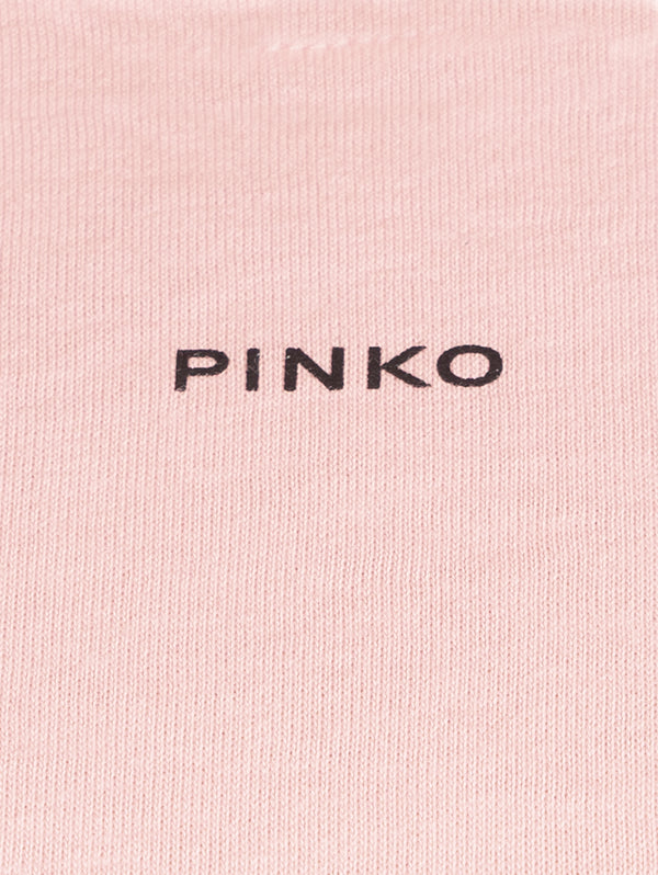 T-Shirt Basico con Micro Stampa - Pink