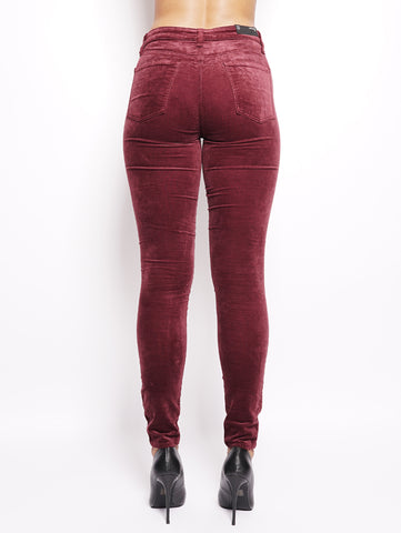 J BRAND Maria High Rise Skinny Bordeaux Trymeshop.it
