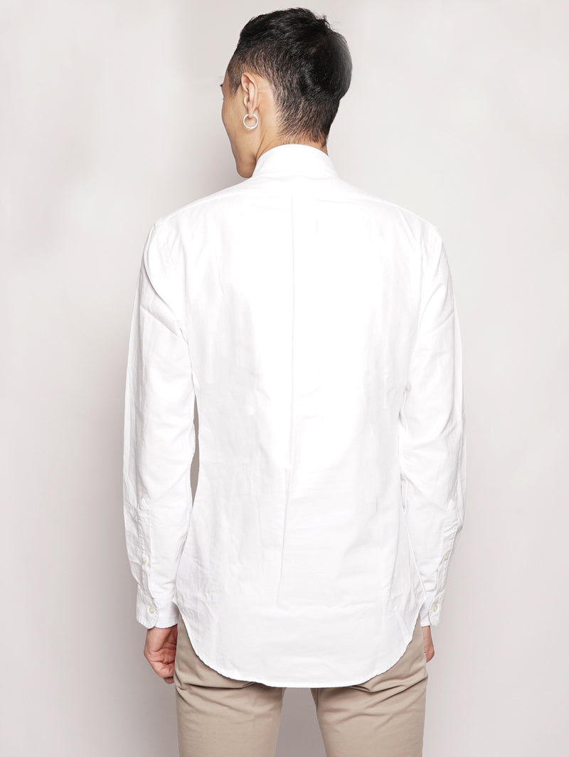 Camicia in twill Slim-Fit Bianco-Camicie-RALPH LAUREN-TRYME Shop