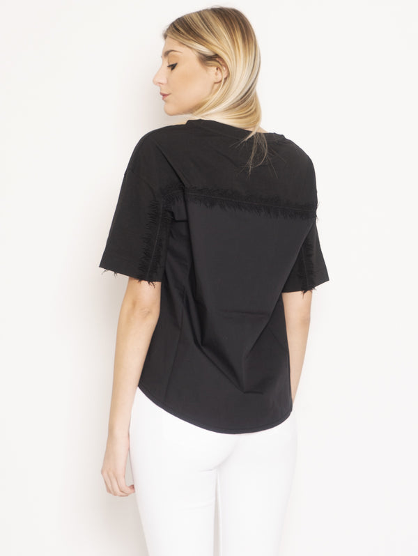 Blouse with Black Fringes