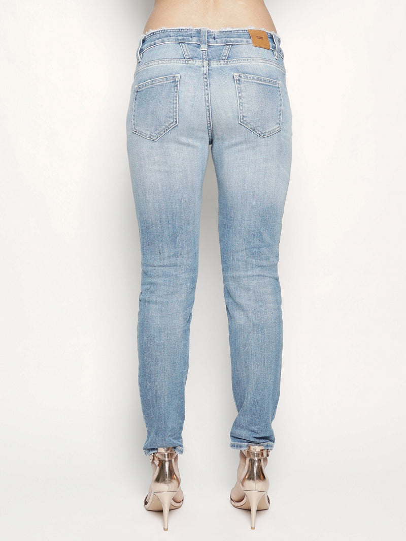 Denim con vita sfrangiata Denim Chiaro-Jeans-CLOSED-TRYME Shop