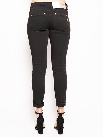 dondup Jeans skinny in bull di cotone superstretch Nero Trymeshop.it