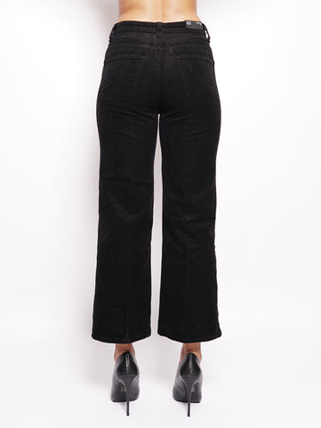 J BRAND Joan Crop Super High - Rise Wide Straight Nero Trymeshop.it