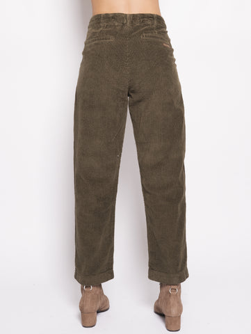WOOLRICH Pantalone in velluto - W's Wide Carduroy P Verde Trymeshop.it