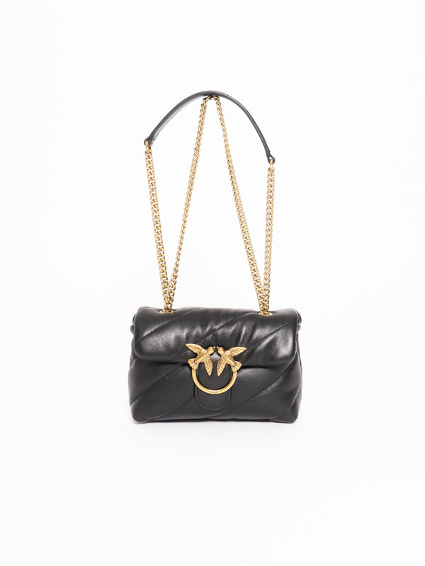 PINKO-Borsa Mini in Morbida Nappa - Nero-TRYME Shop