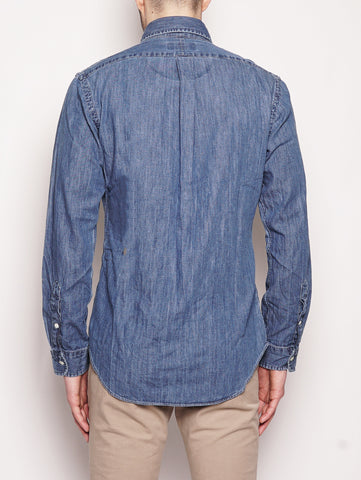 RALPH LAUREN Camicia sportiva in denim Slim-Fit Denim Trymeshop.it