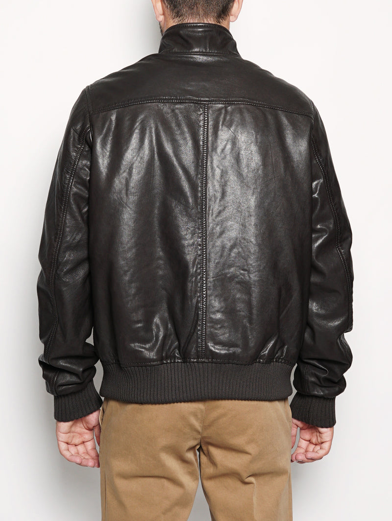 BARRACUDA PADDED LEATHER WASHED Moro-Jacket-ROY ROGERS-TRYME Shop