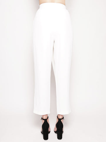 FEDERICA TOSI Pantalone carrot fit Bianco Trymeshop.it