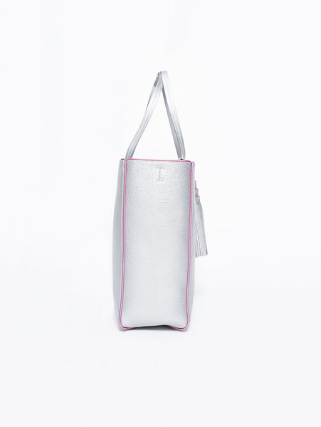 SHOPPER  Argento/Fuxia
