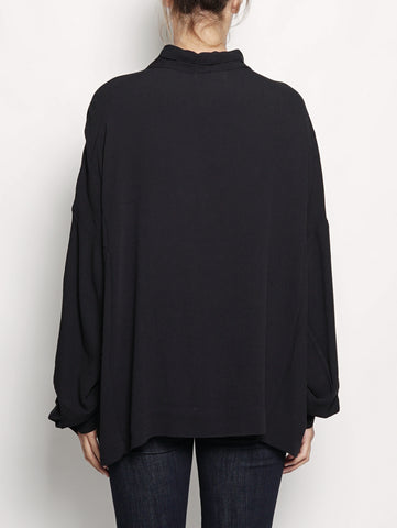 ESSENTIEL Blusa con fiocco - OVERLASTING Nero Trymeshop.it