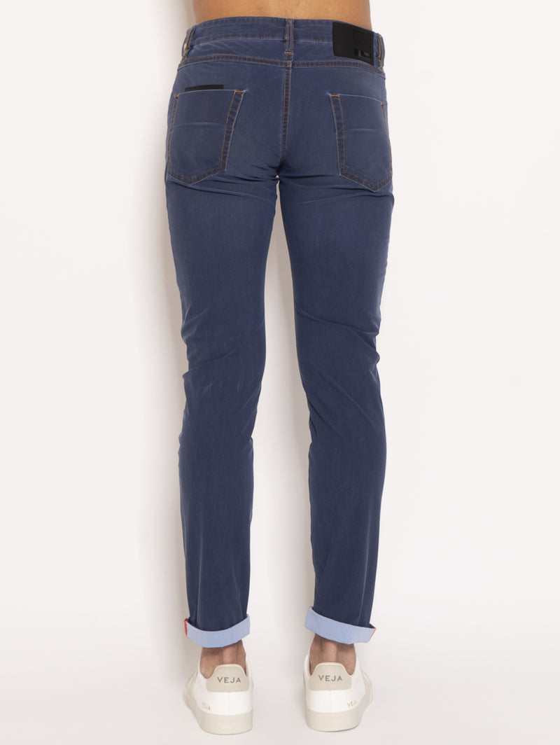 Pantaloni Techno Indaco Faded - Blu