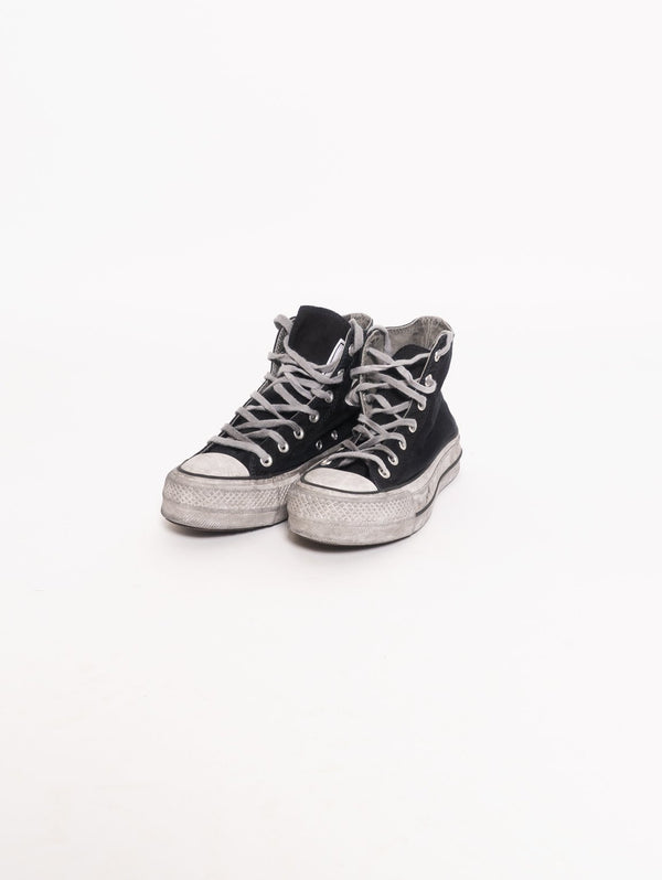 Chuck Taylor All Star Lift Smoked Canvas High Top Nero