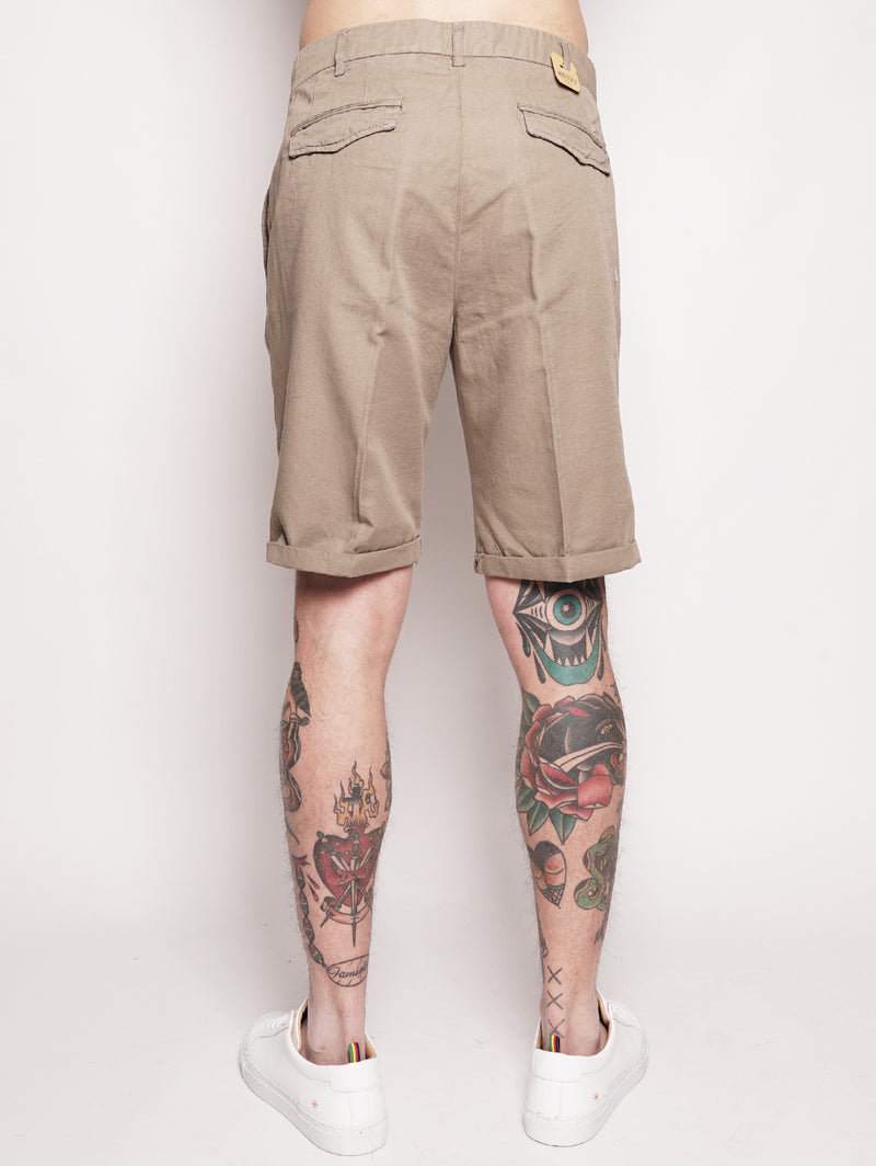 BORDERBE 1106 - Bermuda in misto cotone Beige-Shorts-40WEFT-TRYME Shop