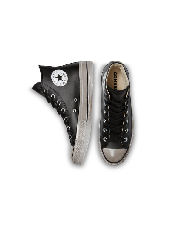 Wordmark Platform Chuck Taylor All Star High Top - Nero