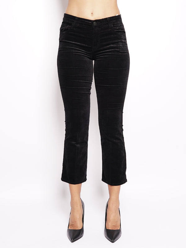 J BRAND-Jeans Selena Mid-Rise Crop Boot Nero-TRYME Shop