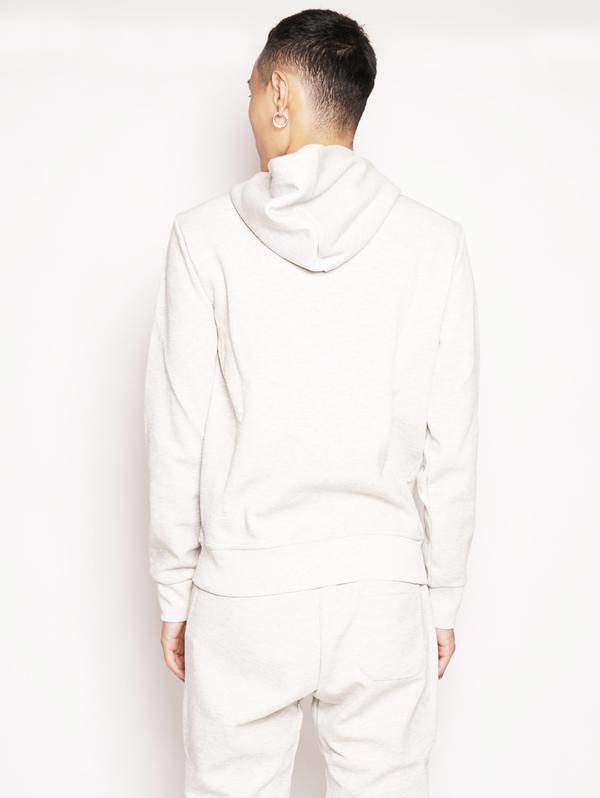 Gray Double Knit Hoodie