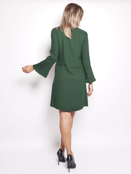 ESSENTIEL Abito in crepe - Rein 3/4 Sleeve Dress Verde Trymeshop.it