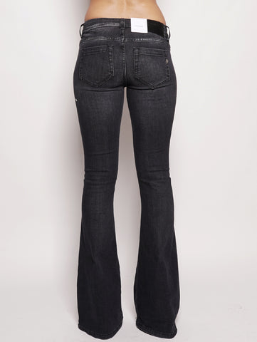 dondup Jeans skinny bootcut in denim stretch Nero Trymeshop.it