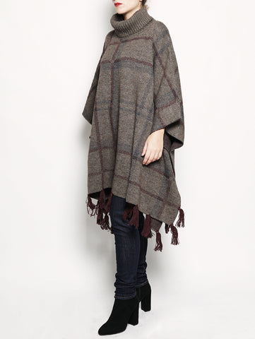 Barbour Lady NEBIT wool cape Fango Trymeshop.it