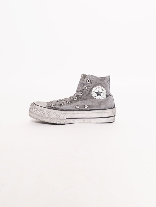 CONVERSE-Chuck Taylor All Star Lift Smoked Canvas High Top Grigio-TRYME Shop