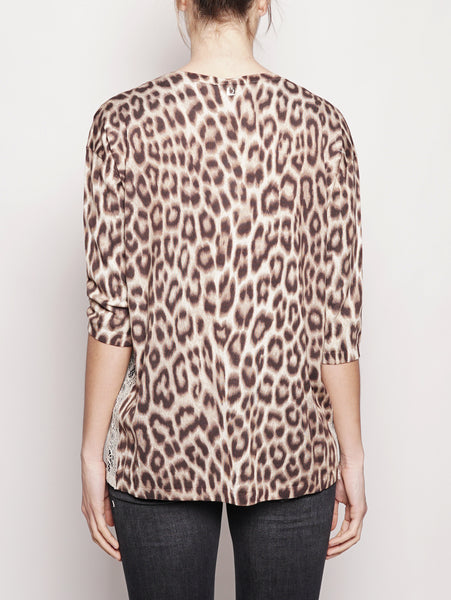 TWIN SET Maglia stampa animalier - PS83LE Animalier Trymeshop.it
