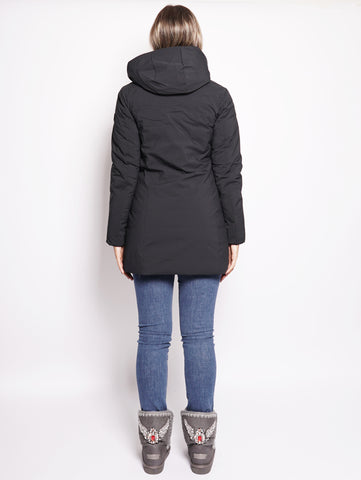 SAVE THE DUCK D4006W MATT7 - Cappotto con cappuccio staccabile Nero Trymeshop.it
