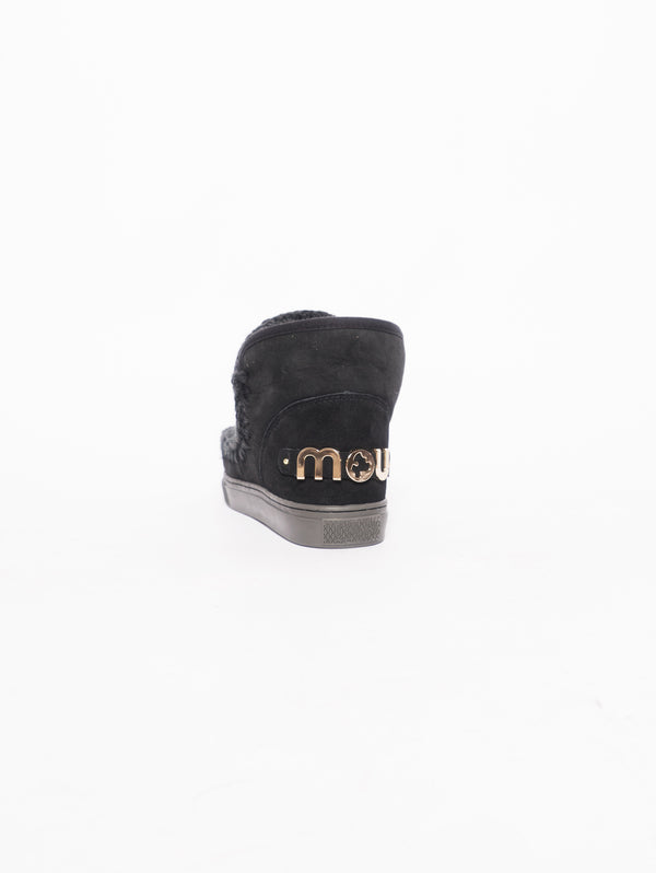 Eskimo sneaker big metallic logo  Nero