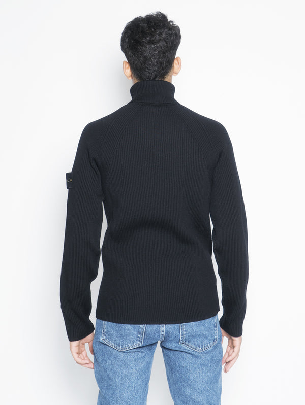 Ribbed high neck sweater 542C2 Black