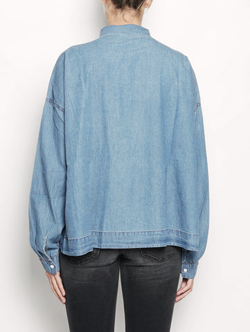 ESSENTIEL Camicia in denim con fiocco - ONASHE Denim Trymeshop.it