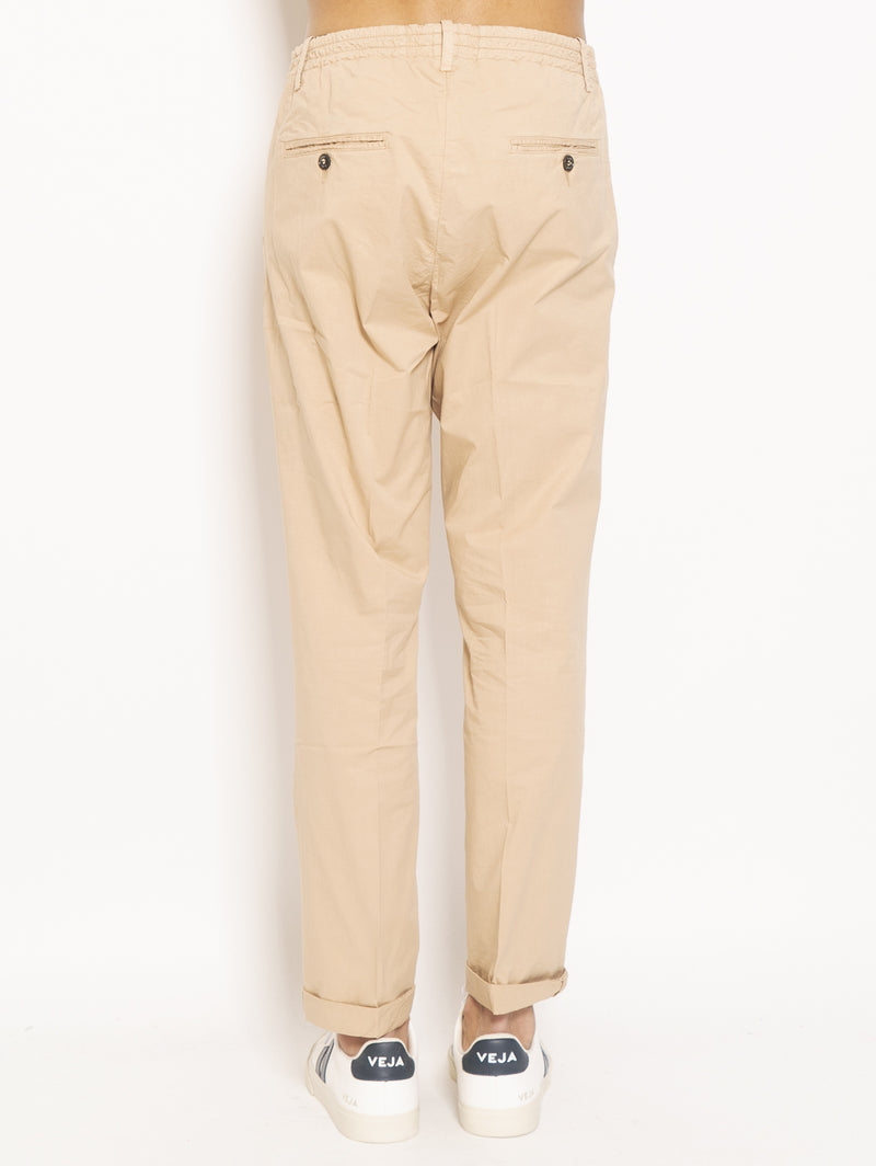 Chino con Coulisse Beige