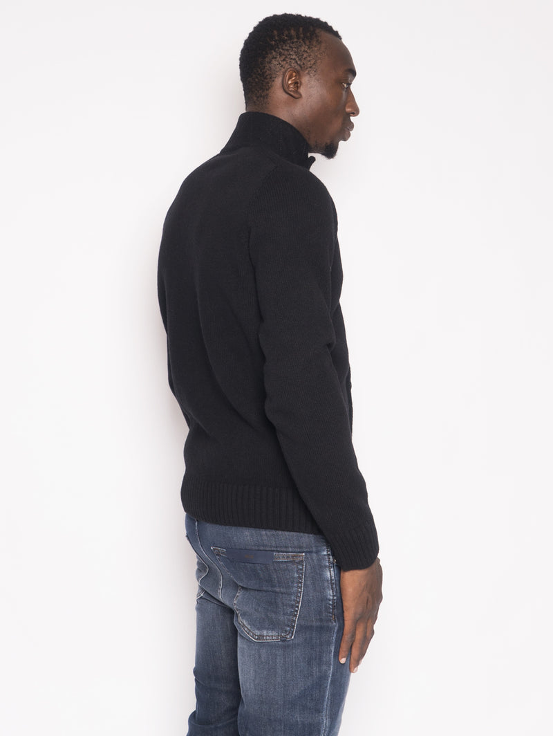 564A3 - Cardigan in lamdswool Nero