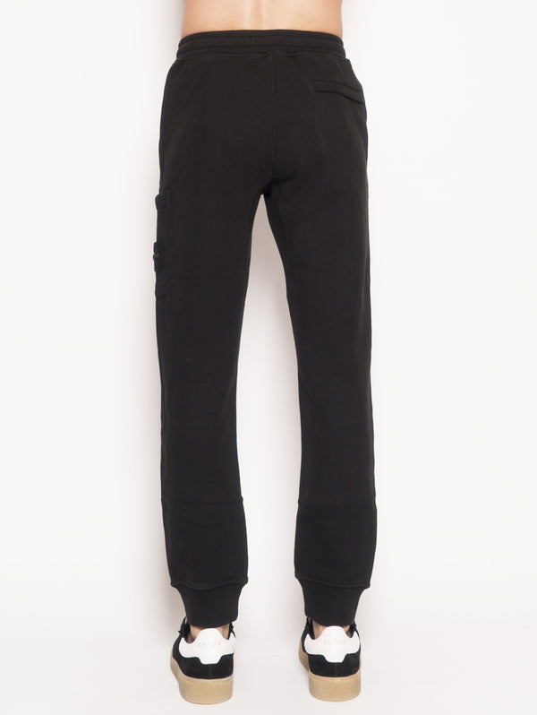 Pantalone jogging in felpa 60320 Nero