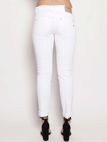 dondup Jeans skinny in bull di cotone superstretch Bianco Trymeshop.it