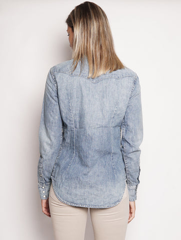 RALPH LAUREN Camicia western in denim Indigo Trymeshop.it