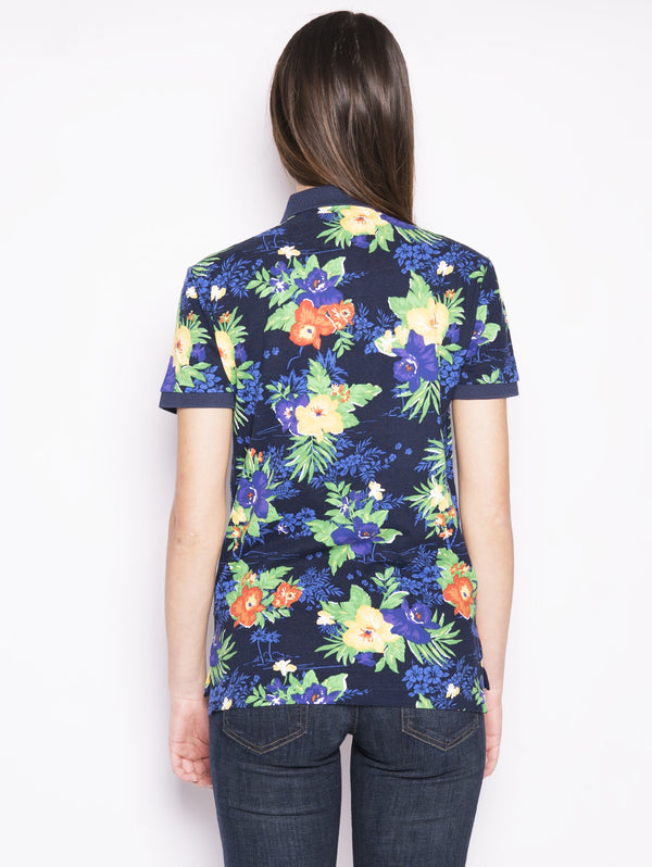 Polo Custom slim fit 'Caribbean floral' Navy multicolor-Polo-RALPH LAUREN-TRYME Shop