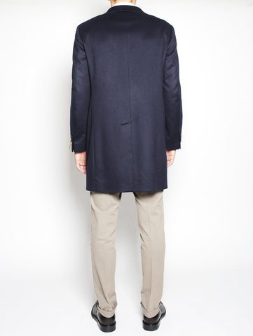 Paoloni Cappotto in Cashmere 2111C207 161640 NAVY Trymeshop.it