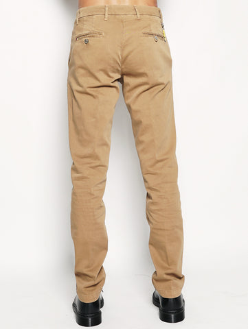 Pantalone chino stretch Ocra