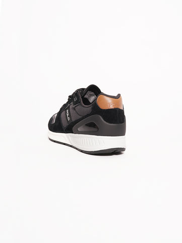 RALPH LAUREN Sneaker Train 100 camoscio e rete Nero / Grigio Trymeshop.it