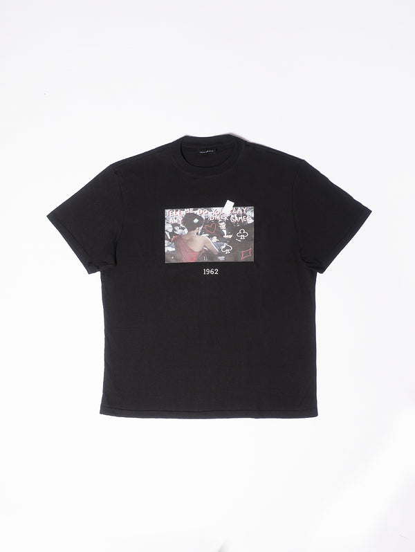 THROWBACK-T-Shirt con stampa 007 POKER Black-TRYME Shop