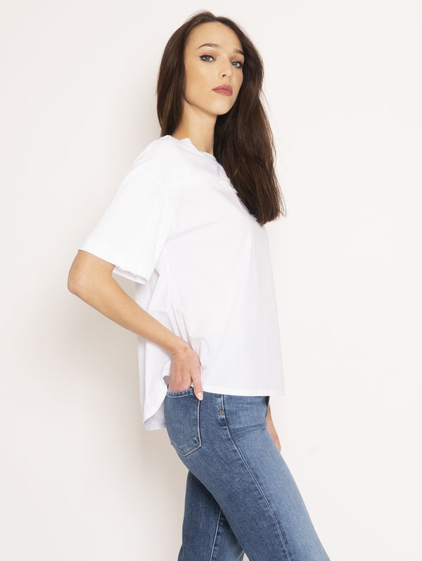 Blouse with White Fringes