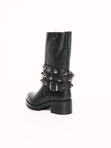 CULT METALLICA BOOT 1808 LEATHER BLACK Nero Trymeshop.it
