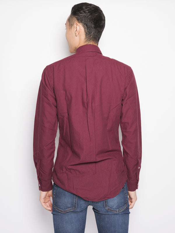 Camicia in twill Slim-Fit Bordeaux-Camicie-RALPH LAUREN-TRYME Shop