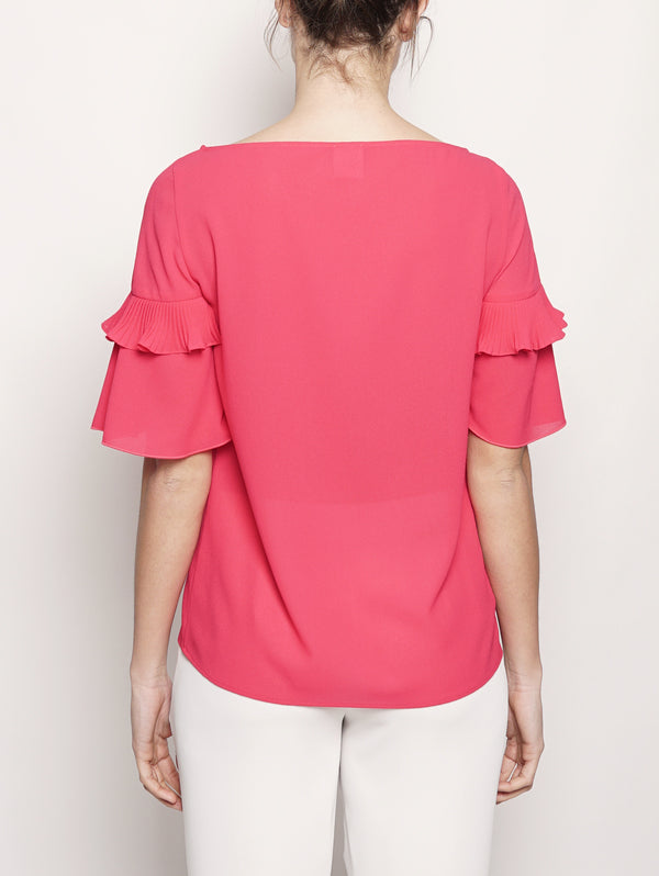 BLUSA IN MICRO Crepe Rosso-Blusa-Pinko-TRYME Shop