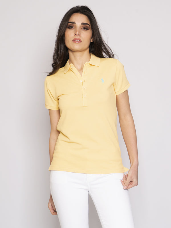 RALPH LAUREN-Polo Skinny Fit Giallo-TRYME Shop