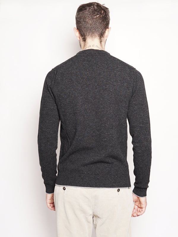 Crew Neck Sweater Grigio-Maglieria-WOOLRICH-TRYME Shop